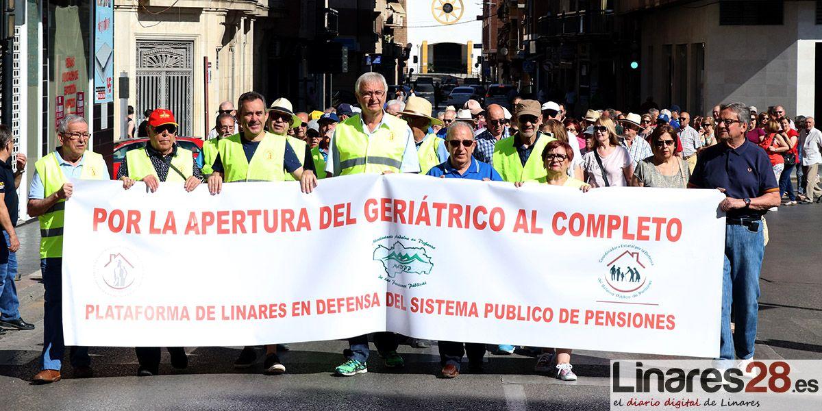 La Plataforma de Linares por la Defensa del Sistema Público de Pensiones insiste en la apertura del segundo edificio del Geriátrico