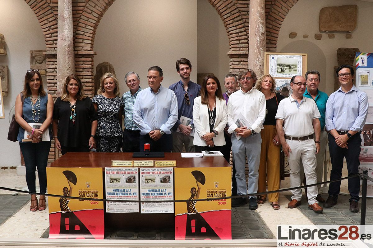 VÍDEO Y FOTOS | El 'Círculo Filatélico y Numismático de Linares' rinde homenaje al Puente de la Quebrada