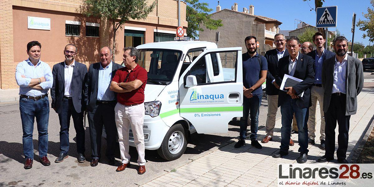 VÍDEO | Linaqua presenta un nuevo vehículo eléctrico y un cajero 24 horas para los pagos