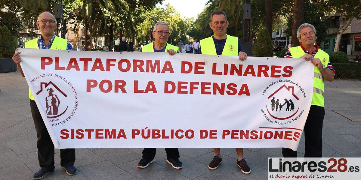 La Plataforma de Linares en Defensa de las Pensiones Públicas organiza una concentración en defensa de la sanidad pública