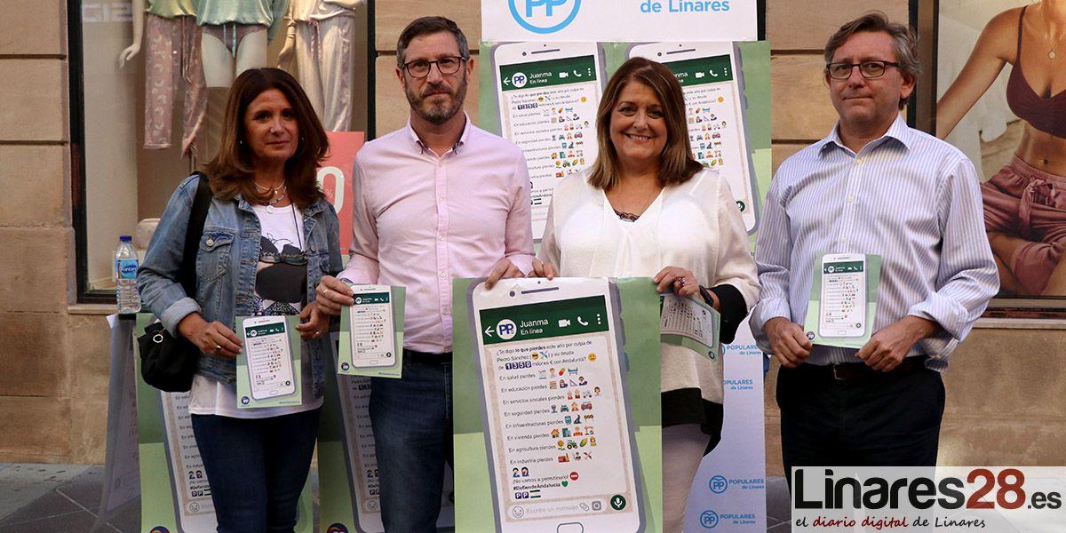 El PP recoge firmas en Linares para exigir el pago de los 1.350 millones de euros que el Estado adeuda a Andalucía