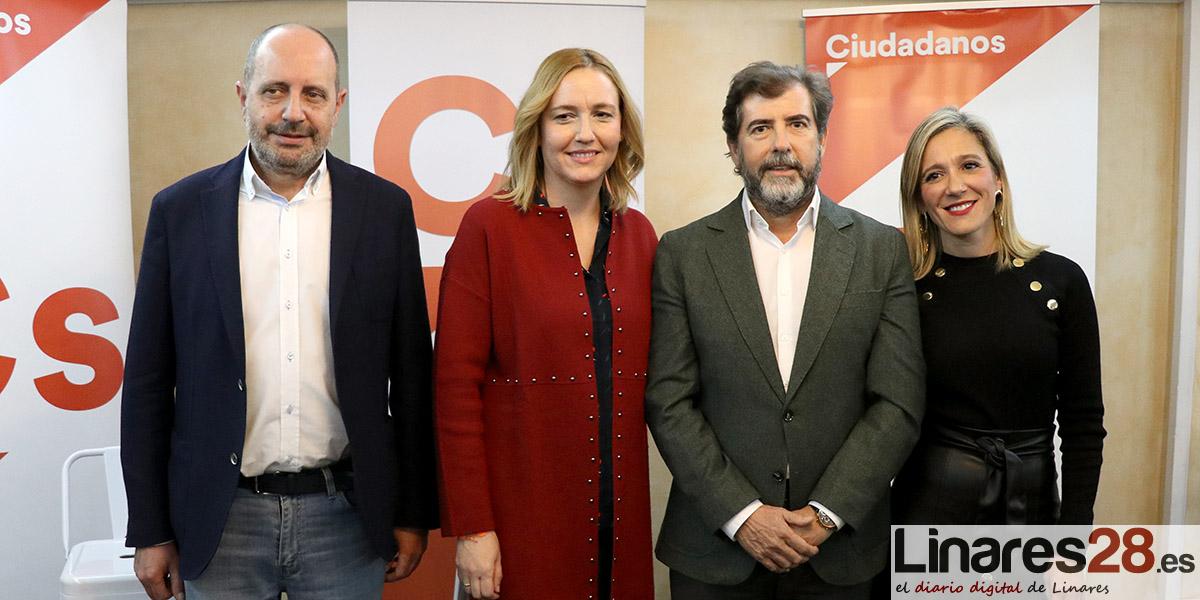 VÍDEO | La candidata de Cs al Congreso, Marián Adán, pide la confianza a los jienenses en un acto provincial de campaña en Linares