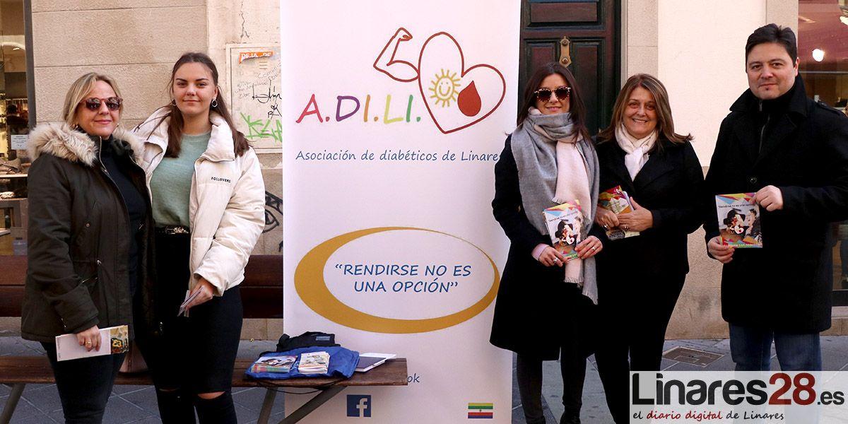 VÍDEO | ADILI sale a las calles de Linares para concienciar sobre le Diabetes
