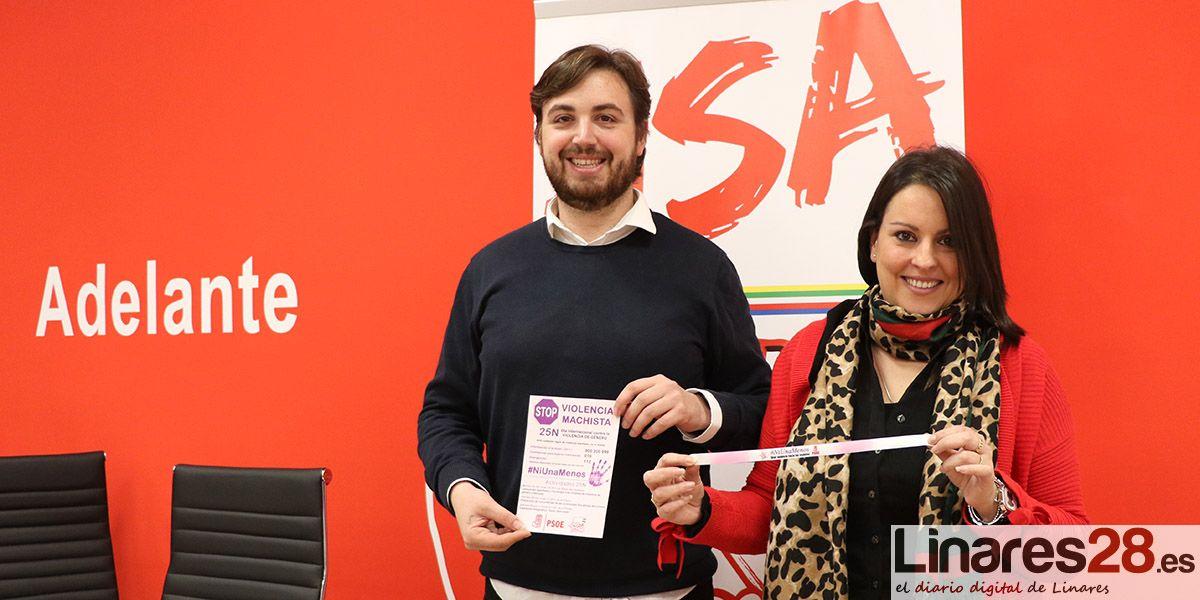 PSOE y Juventudes Socialistas de Linares presentan sus actividades por el 25N