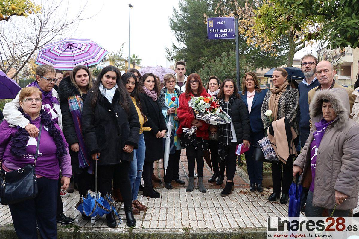 Linares dedica dos de sus plazas a víctimas de la violencia machista