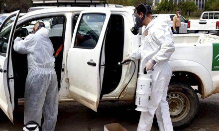 CRISIS CORONAVIRUS | La Junta incorpora efectivos del Infoca a los trabajos de desinfección