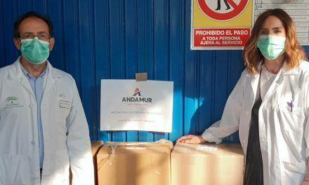 Andamur dona mascarillas al Hospital de San Agustín