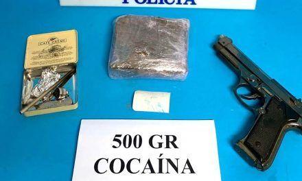SUCESOS | Tres detenidos en Linares con más de 500 gramos de cocaína y una pistola simulada