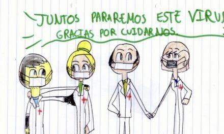 El Hospital de Linares entrega cartas de niños a pacientes y profesionales frente al Covid-19