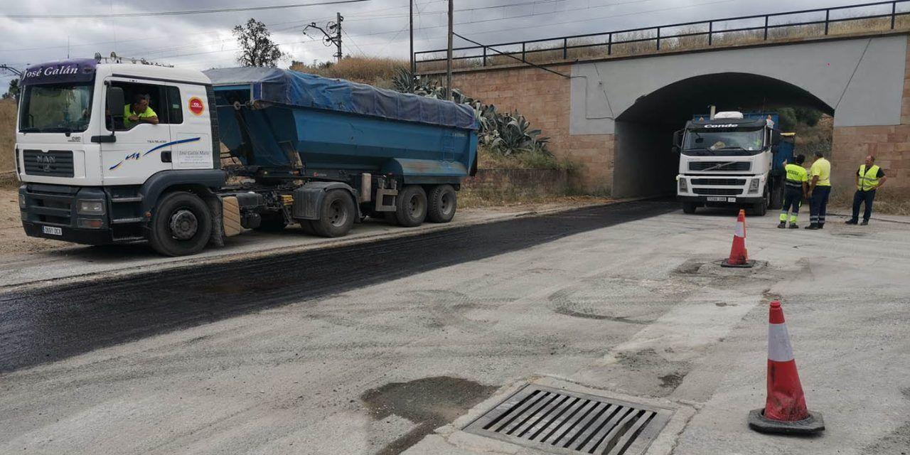 Ayuntamiento de Linares acomete las obras de adecuación del paso inferior a la zona industrial de la antigua TRADEMA