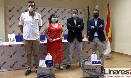 VÍDEO | La firma linarense Eco Electric Motor S.L. entrega un equipo de desinfección a Cruz Roja