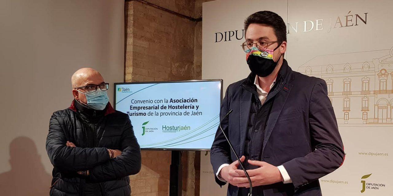 Diputación y HosturJaén colaborarán para que el sector de la hostelería haga frente a la pandemia en mejores condiciones