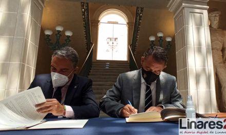 VÍDEO | Rubricado el convenio para que Linares sea sede para la formación de Fuerzas de Seguridad de Andalucía