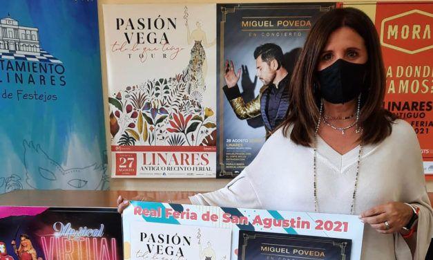 Miguel Poveda, Morat y Pasión Vega los tres grandes conciertos para la Feria de Linares 2021